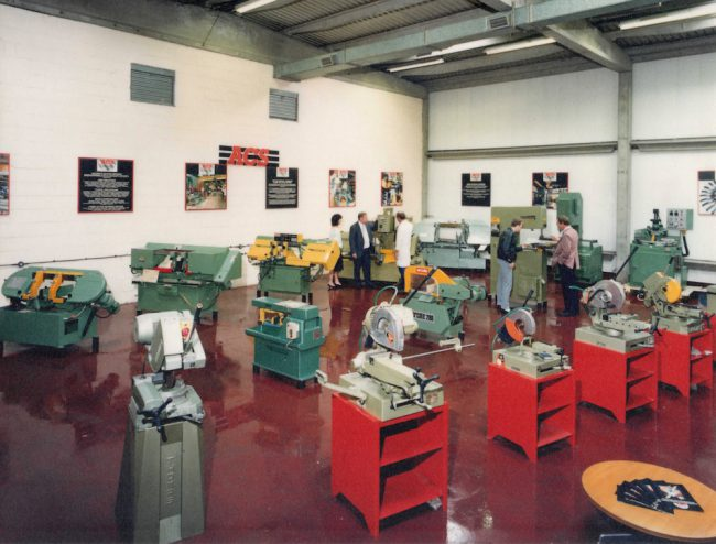 Accurate Cutting Services history - The first showroom for new saws