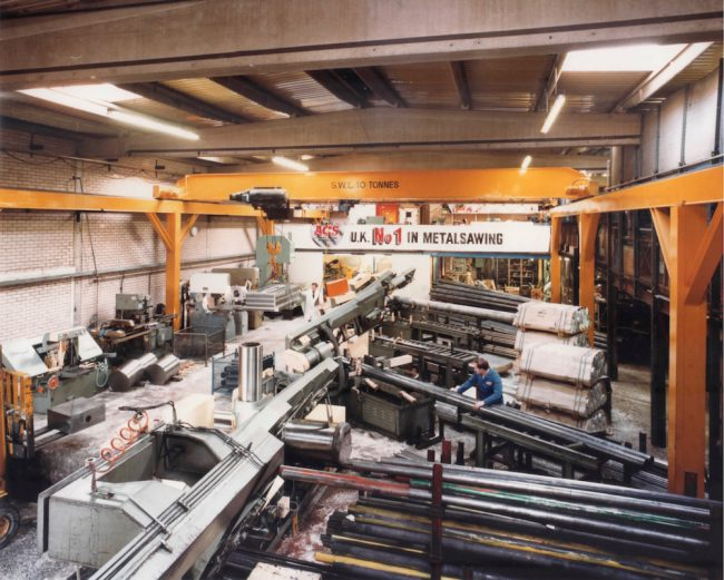 Accurate Cutting Services history - Amada saws in the first saw bay at Redditch
