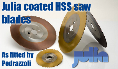 Julia coated HSS circular saw blades