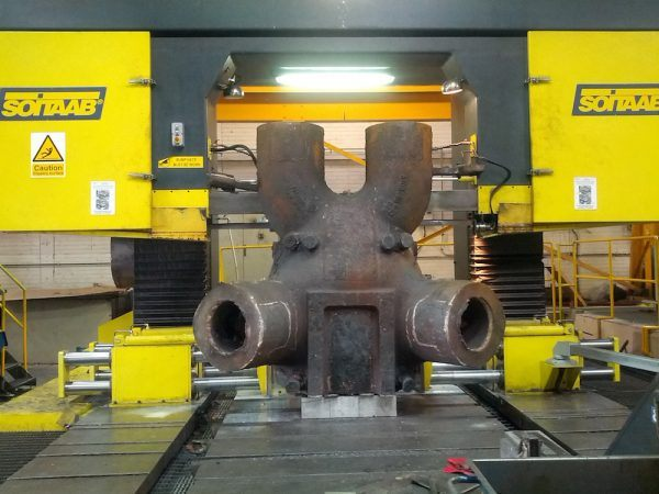 17.5 tonne casting on Soitaab Gantry saw at Redditch