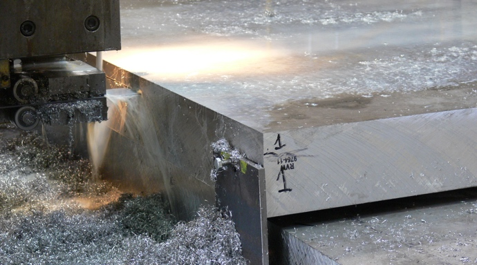 Sawing plate materials to reduced thickness